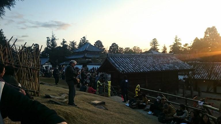 Sonnenuntergang vor dem Tempel - Nara