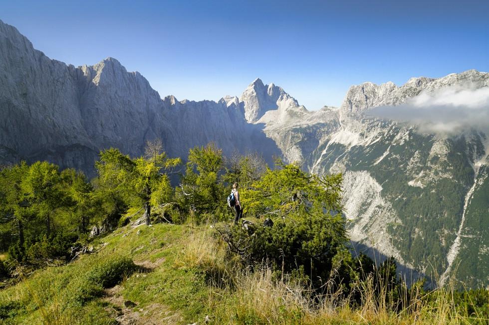 Ausblick auf die Julischen Alpen