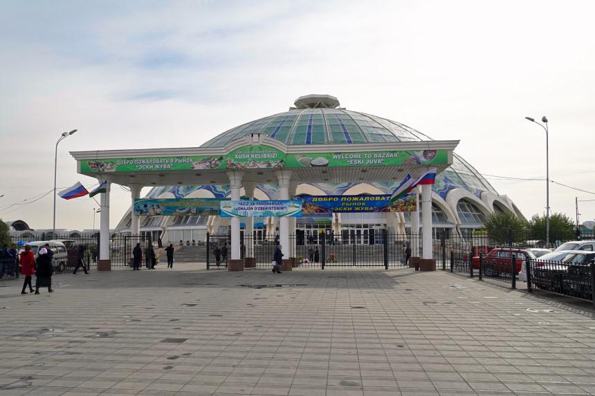Eingang zum Chorsu Basar in Taschkent