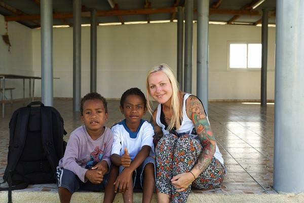 Einheimische Kinder auf Lifou - Neukaledonien