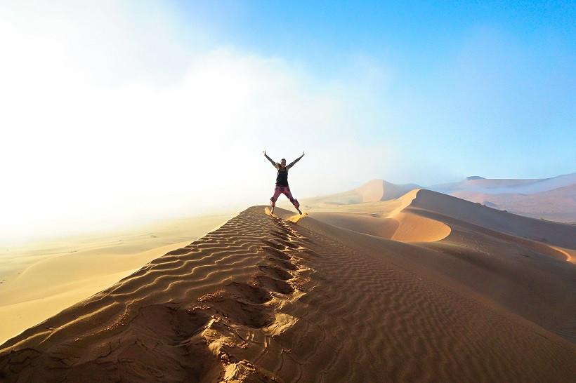 Der Nebel schwindet - Sossusvlei Nambia