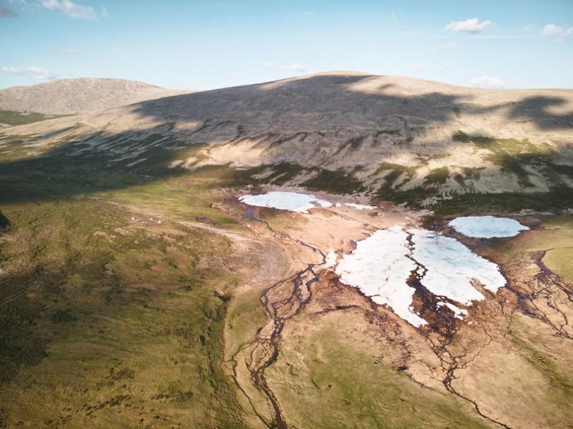 Eisflächen im Hochtal der Mongolei