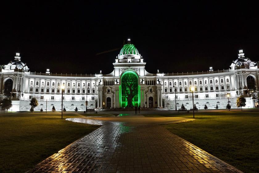 Der Palast der Landwirtschaft bei Nacht - Kasan