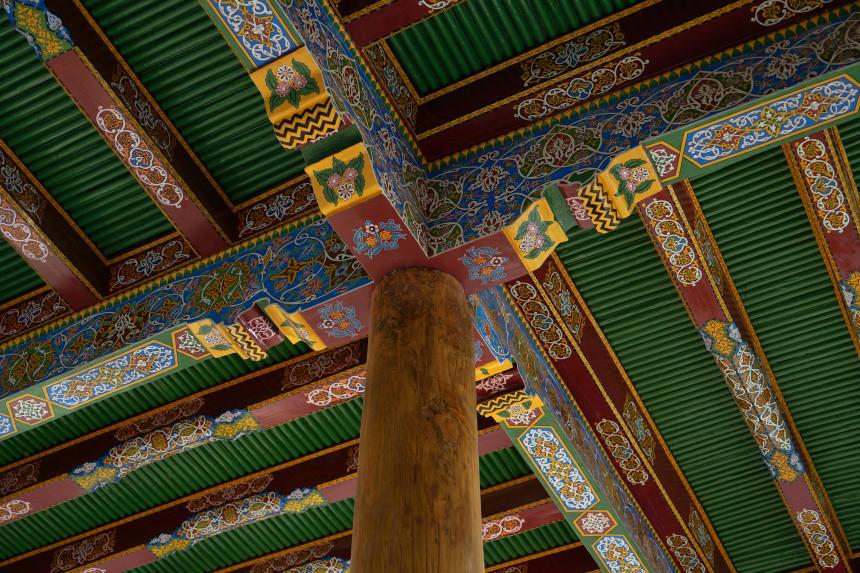 Verziehrung eines Daches in Samarkand