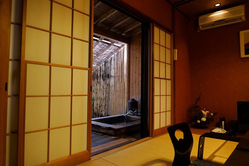 Unser Zimmer im yokan mit privatem Onsen