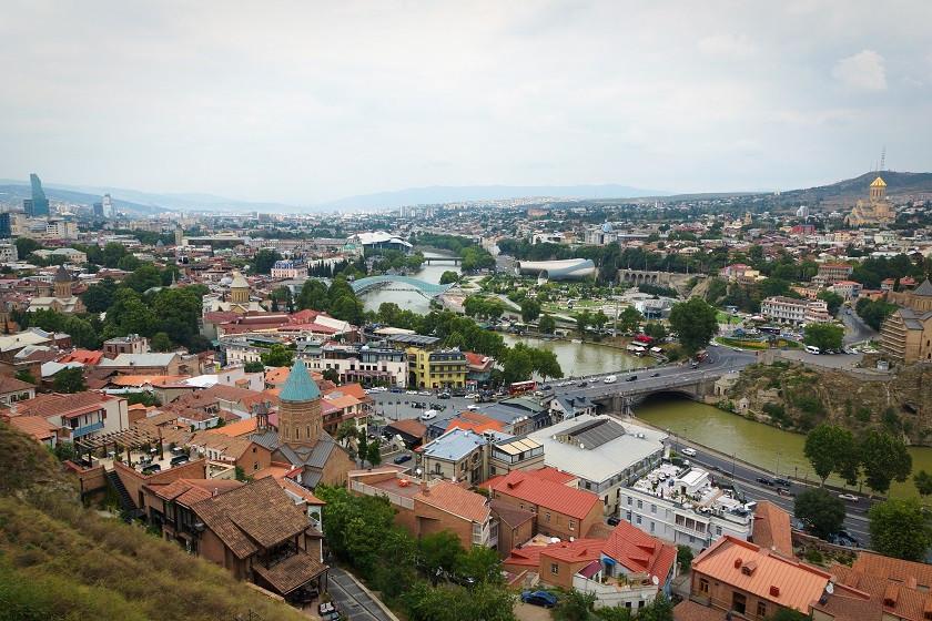 Tiflis von oben - Georgien