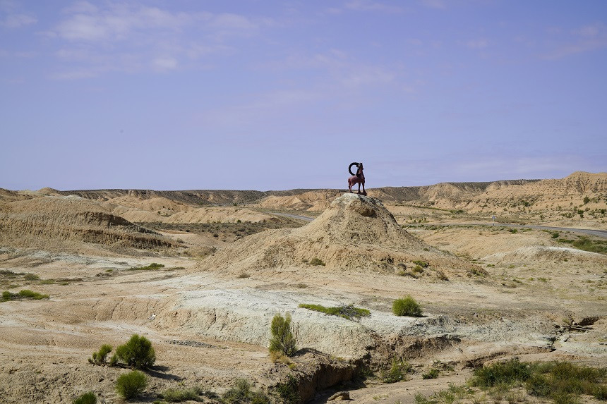 Tierstatue in Kasachstan