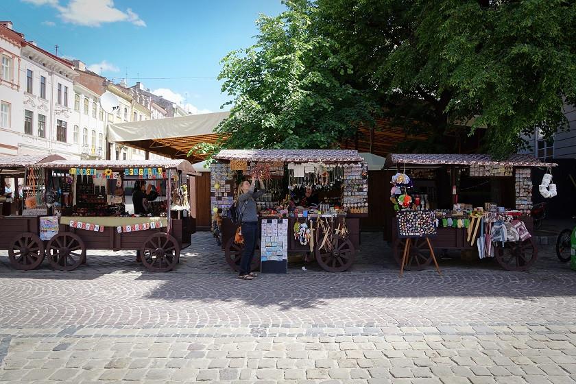 Typische Straßenstände in Lviv