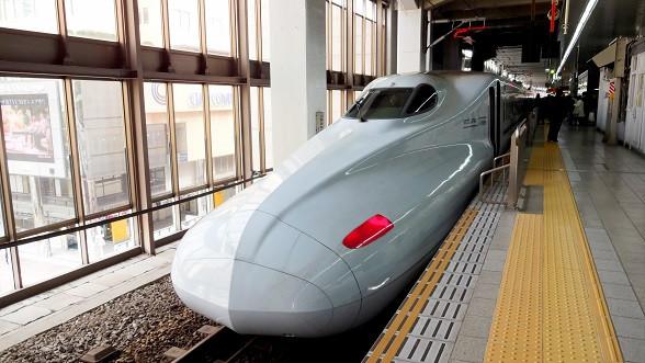 Shinkasen Zug von vorne