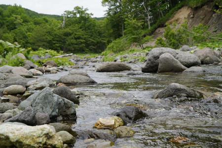 Fluss im Shiretoko Nationalpark