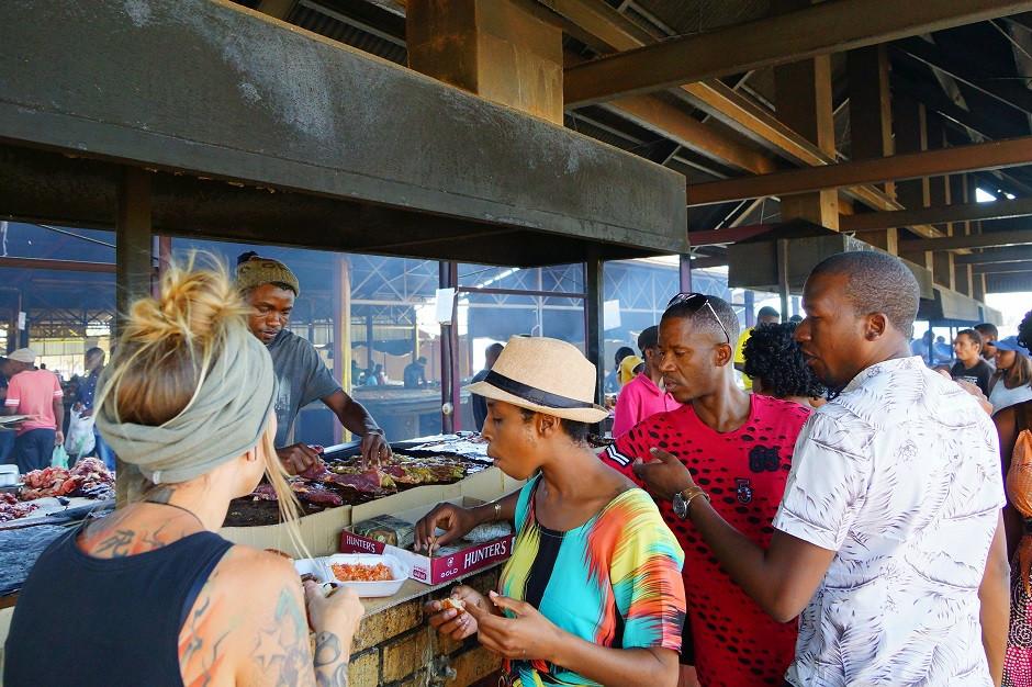 Lokaler Fleischmarkt in Windhuk