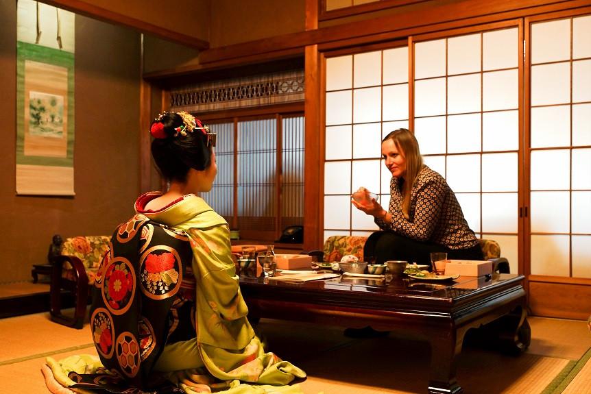 Treffen mit einer Maiko-San in Kyoto