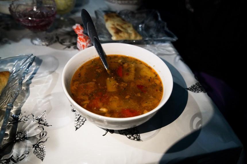 Lagman traditionelles kirgisisches Gericht