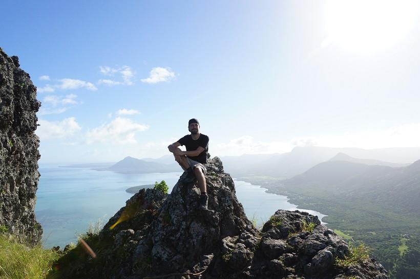 Auf dem Gipfel des Le Morne Brabant - Mauritius