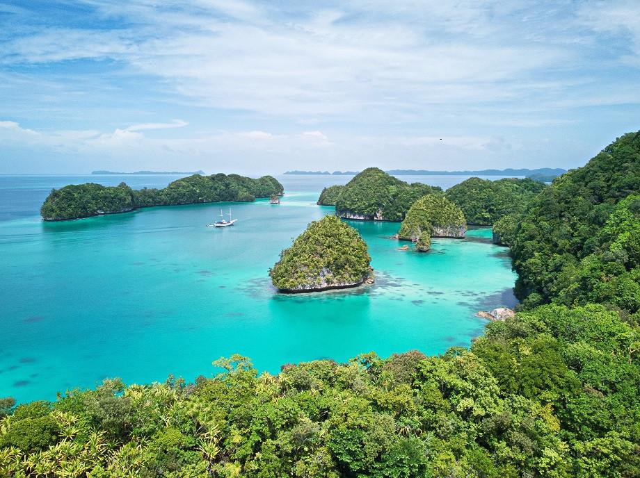 Atemberaubende Bucht in Palau