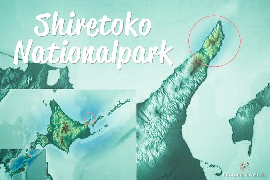 Karte vom Shiretoko Nationalpark