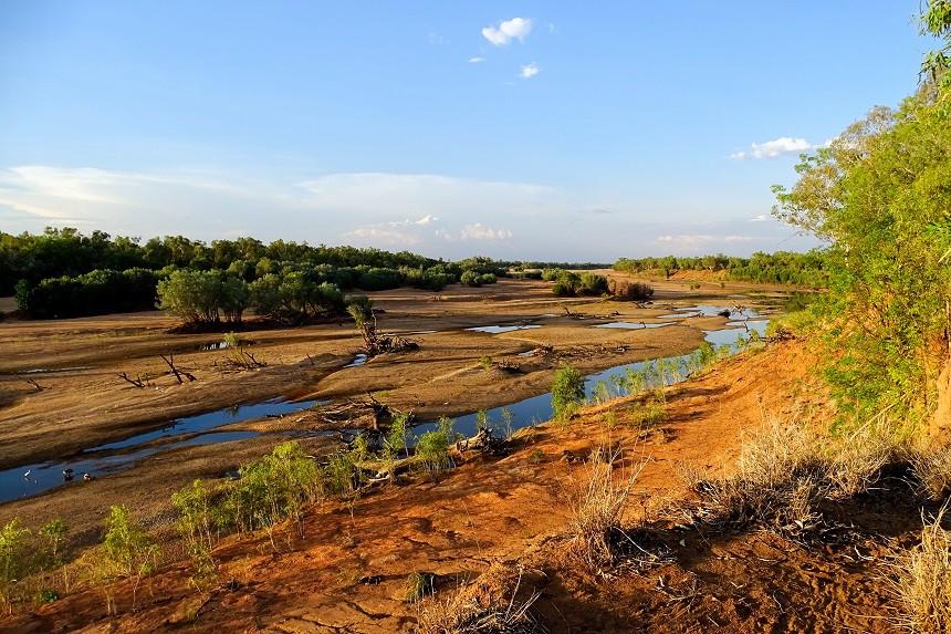 Blick auf den Fitzroy River - Trockenzeit
