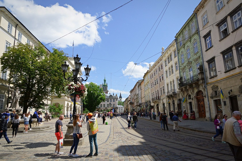 Rathausplatz in Lviv