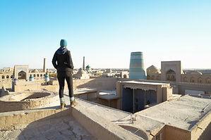 Ausblick auf Khiva Usbekistan