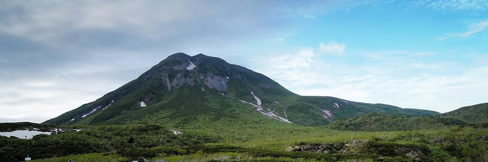 Blick auf den Mount Rausu