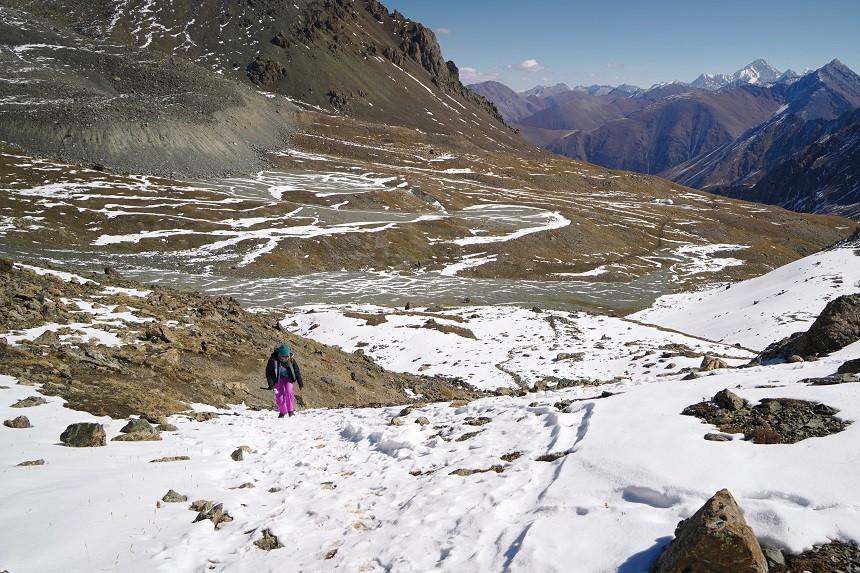 Wandern durch den Schnee