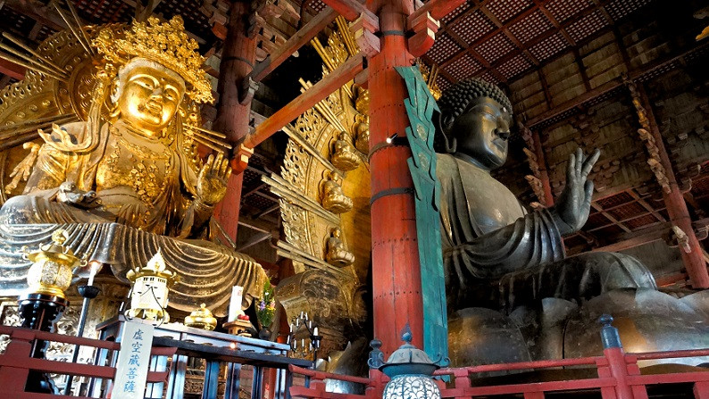 Giant Buddha, Todai-ji Tempel - Nara