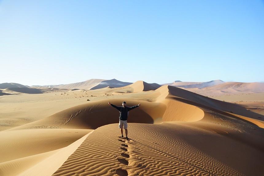 Hermann mitten im Nirgendwo in Namibia