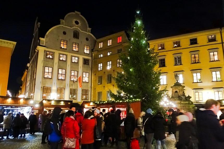 Weihnachtsmarkt in Gamla Stan - Stortorget - Stockholm