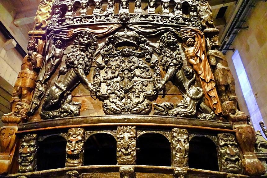 Heckansicht der Vasa - Stockholm