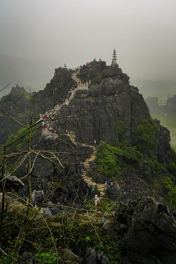 Überlaufener Aussichtspunkt in Huang Ma - Vietnam