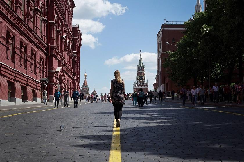 Auf dem Weg zum roten Platz - Moskau