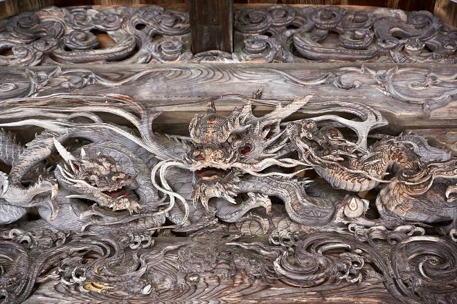 Tempel Schnitzereien - Nozawa Onsen