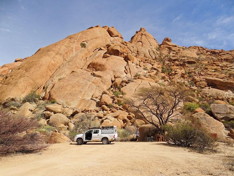 Campingplatz Nr. 15 - Spitzkoppe Rest Camp - Namibia