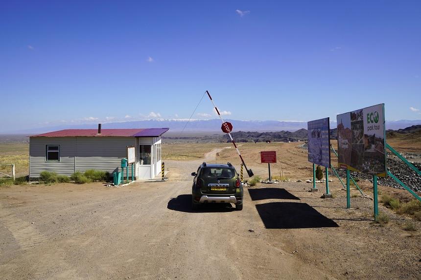 Kontrollposten zum Scharyn Canyon