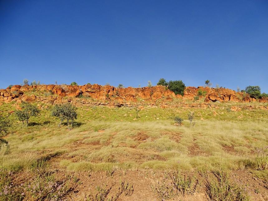 Blick auf die Landschaft in Fitzroy Crossing Australien