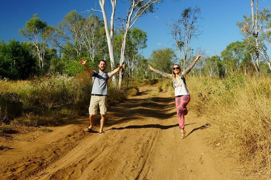 Kati und Hermann im Outback von Australien
