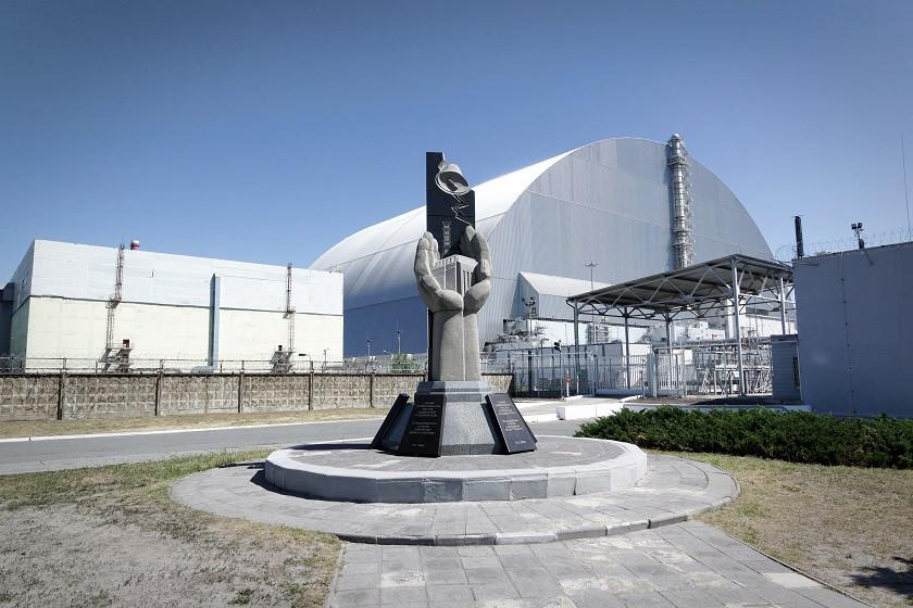 Der Sarkophag/Arche in Tschernobyl