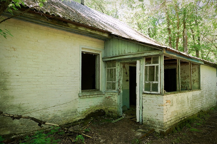Verstrahles Haus in Zalissya - Tschernobyl
