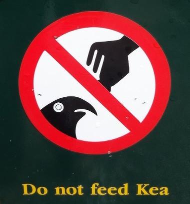 Hinweisschild in Neuseeland