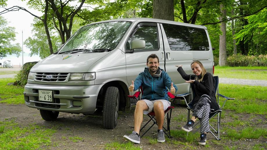 Kati + Hermann mit Campervan in Japan