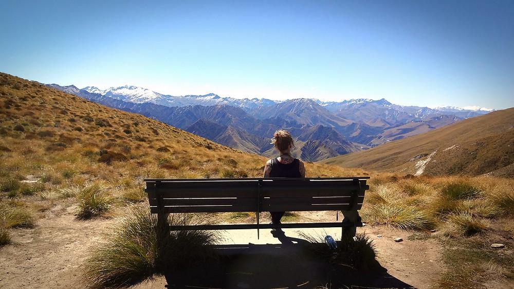 Panorama Blickurz vor Ben Lomond Neuseeland