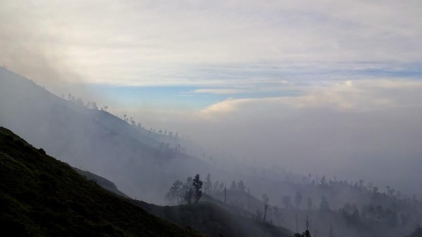 Mount Ijen - Vulkannebel