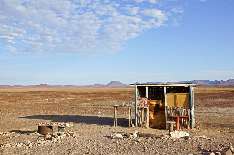 Souvenirstand in Namibia