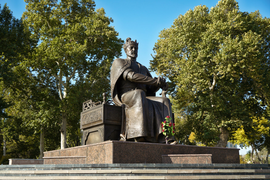 Amir Timur Statue in Samarkand