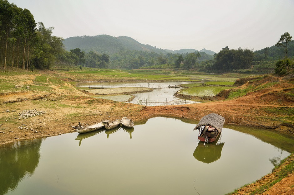 Vietnamesisches Boot in der Yen Bai Provinz