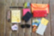 Notizbuch und Ausweise