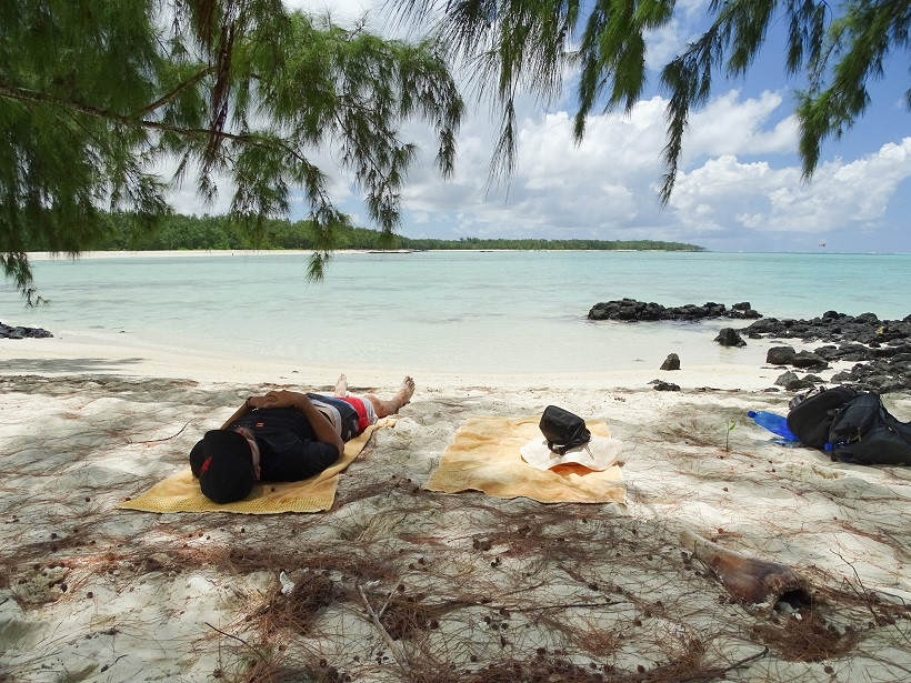 Relaxen am Strand - Ile aux Cerf