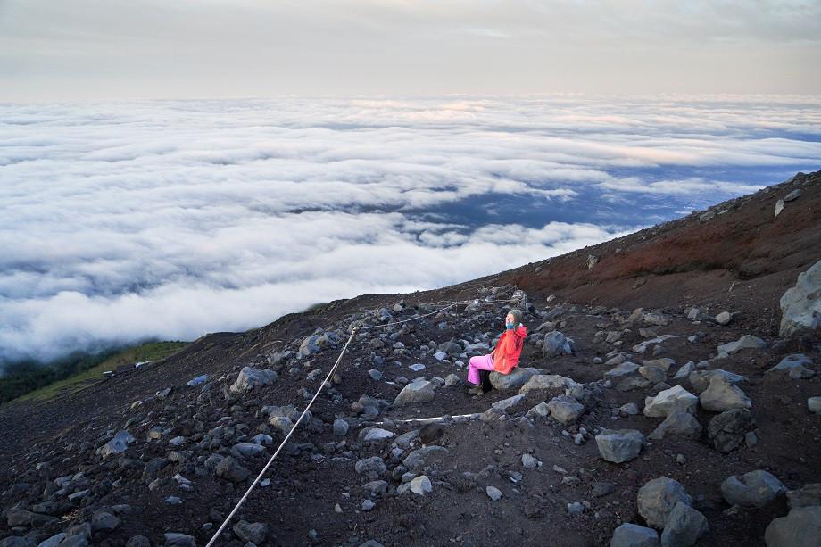 Blick auf den Wanderweg des Fujinomiya Trail