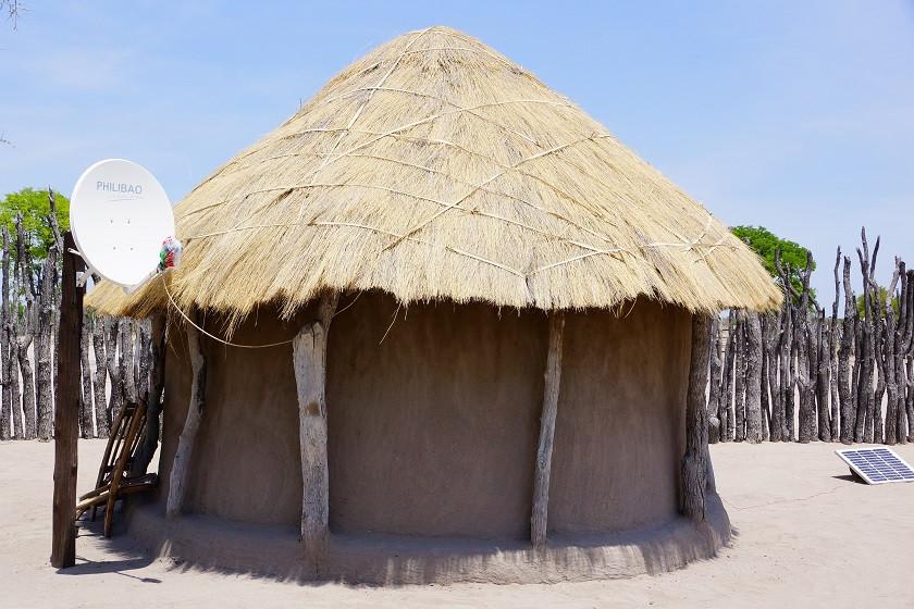 Traditionelles Haus in Botswana