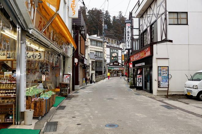 Gasse in Nozawa Onsen